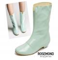 TATA多色漆皮平跟小雨靴