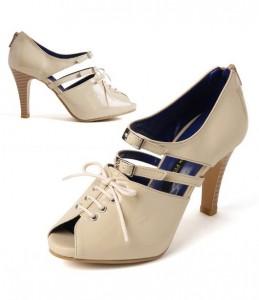 镂空磨绒气质坡跟女单鞋