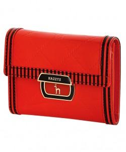 皇家气质红黑混搭女式皮夹