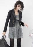 韩丝娜大版条纹连帽针织衫两件套吊带连衣裙