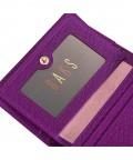 英伦牛皮女士紫罗兰皮夹